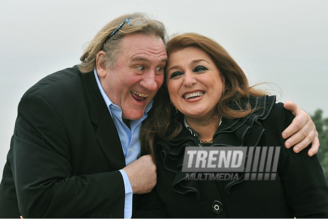 Renowned French actor Gerard Depardieu visits Baku, Baku, Azerbaijan, Dec.13, 2010