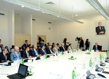 "The first meeting of National Action Group to implement the concept of ""Azerbaijan 2020: Vision of the future"". Baku, Azerbaijan, Sep.10, 2013"