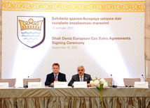 The agreements signed today in Baku are long term gas contracts each for 25 years. Baku, Azerbaijan, Sep.19, 2013