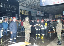 "Fire in ""Bina"" Trade Center. Baku, Azerbaijan, Dec.24, 2013"