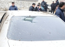 A strong explosion occurred in the basement of an unfinished residential building near the Azadlig prospekti subway station in Baku. Azerbaijan, Feb.13, 2014