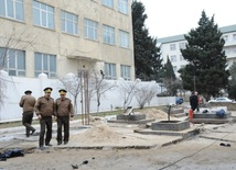 An explosion occurred at a petrol station's gas tank in Baku. Azerbaijan, Feb.13, 2014