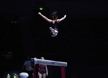Podium training starts for Baku World Cup in artistic gymnastics