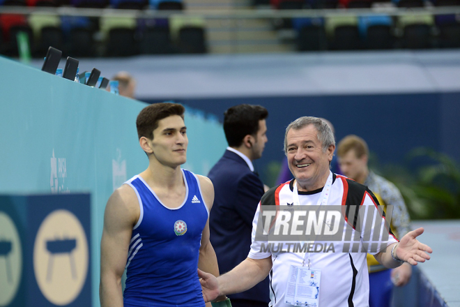 Day 3 of FIG World Cup in artistic gymnastics kicks off in Baku. Azerbaijan, 18 march, 2017