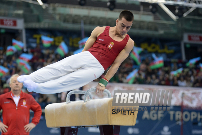 Day 4 of FIG World Cup in artistic gymnastics in Baku. Azerbaijan, 19 march, 2017