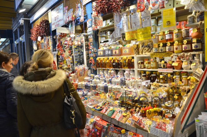 The Great Market Hall or Central Market Hall is the largest and oldest indoor market in Budapest. Hungary, April,4, 2017