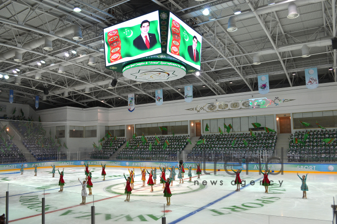 "Ashgabat and Turkmenbashi host ""Asian Games 2017"" International sports congress. Turkmenistan, April,8, 2017"