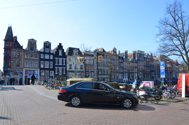 One day in Amsterdam. Amsterdam, Holland, 13 April,  2017