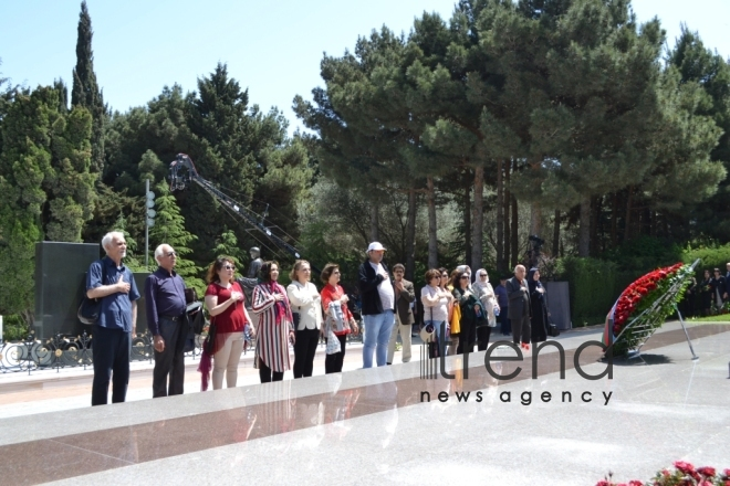Azerbaijanis mark 94th birthday anniversary of National Leader Heydar Aliyev. Baku, may 10, 2017