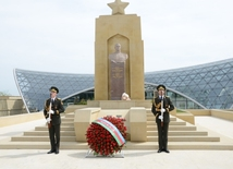 Azerbaijan celebrating Victory Day.