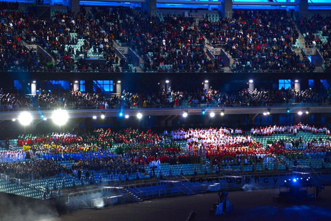 Opening ceremony of Baku 2017 Islamic Solidarity Games. Azerbaijan, Baku, 12 may, 2017