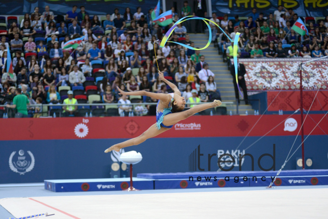 Day 2 of rhythmic gymnastics at Baku 2017. Azerbaijan, Baku, 13 may, 2017