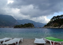 Ölüdeniz national park (Blue Lagoon) - at the intersection point of the Aegean Sea and the Mediterranean Sea.