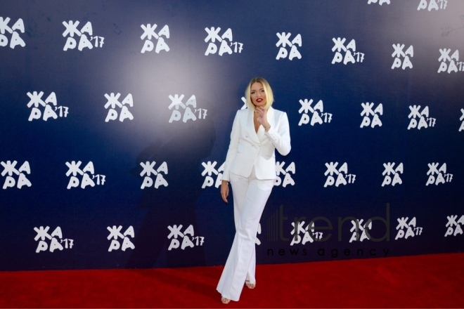 Stars on red carpet of Zhara international festival in Baku. Azerbaijan, july 29, 2017