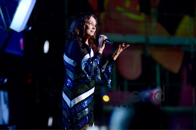 Sofia Rotaru celebrates her jubilee at Zhara festival in Baku. Azerbaijan, july 29, 2017