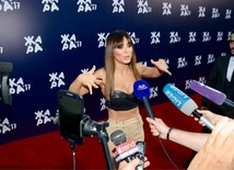 Stars on red carpet of Zhara international festival in Baku