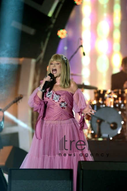 Creative performance of legendary singer Alla Pugacheva at Zhara-2017 festival in Baku. Azerbaijan, july 30, 2017