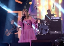 Creative performance of legendary singer Alla Pugacheva at Zhara-2017 festival in Baku