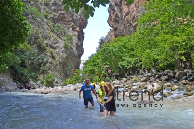 Saklikent - the second longest and deepest gorge in Europe. Turkey. Mugla, august 5 , 2017