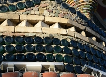 House made of 48,000 glass bottles in Ganja