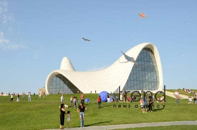 Heydar Aliyev Center arranges grand festival for Baku residents. Azerbaijan, Baku, august 28, 2017