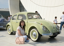 At a parade of classic cars in Baku