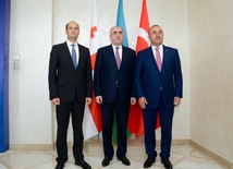Azerbaijani, Georgian, Turkish FMs hold tripartite consultations in Baku