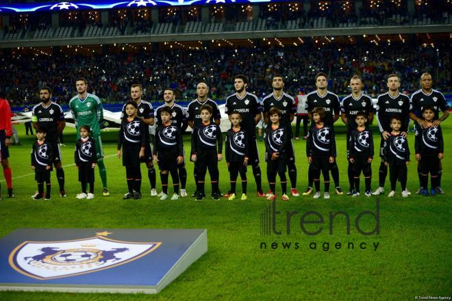 Azerbaijani football club Qarabag FK lost to AS Roma 2-1 in Champions League Group Stage in Baku. Azerbaijan, September 27, 2017