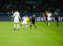 Qarabag FK faced Italy's Roma in UEFA Champions League Group Stage