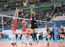 Azerbaijan's volleyball squad defeats German team at European championship