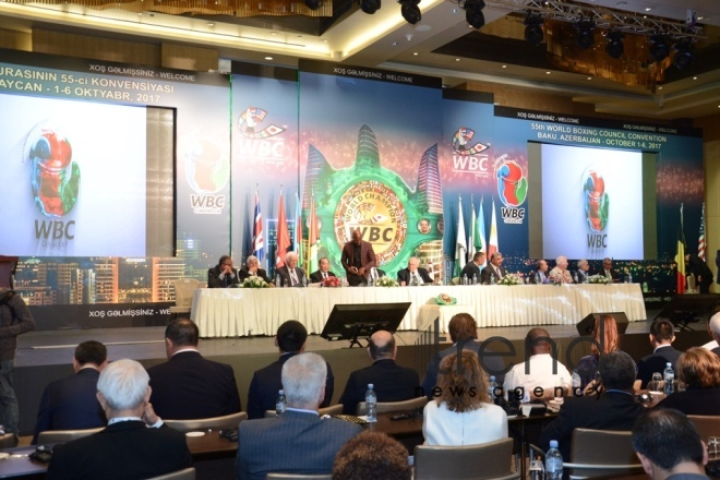 55th World boxing council convention. Azerbaijan, Baku, October 2, 2017