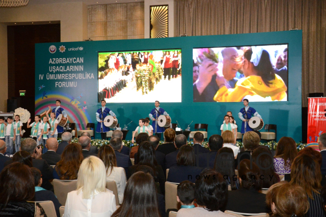 At 4th National Forum of Azerbaijani Children. Azerbaijan, Baku, november 20, 2017