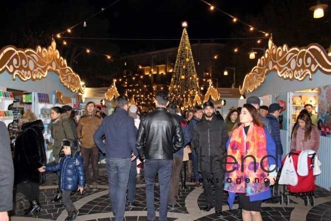 "New Year charity fair ""Cold hands - warm heart"" opens in Baku. Azerbaijan, Baku, december 2, 2017"