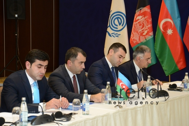 At the meeting of IT ministers of Economic Cooperation Organization (ECO). Azerbaijan, Baku, december 5, 2017