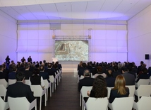 Baku`s bid to host World Expo 2025 presented at Heydar Aliyev Center. Azerbaijan, Baku, december 14, 2017