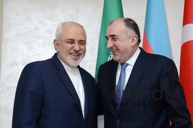 Azerbaijani, Turkey, Iranian FMs held meeting. Azerbaijan, Baku, 20 december 2017