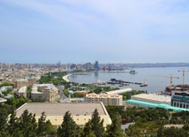 A bird's eye view of Baku