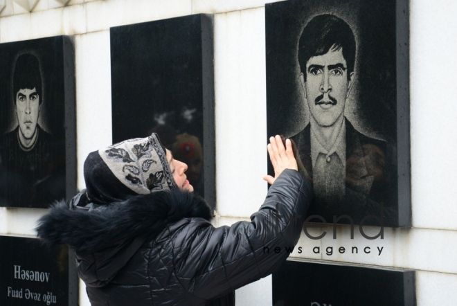 Azerbaijan commemorates 28th anniversary of January 20 tragedy. Azerbaijan, Baku, january 20, 2018