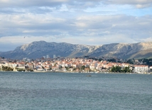 On shores of Adriatic Sea in winter - Split