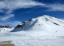 In mountains of Guba district - Khinalig and Tufandag in winter