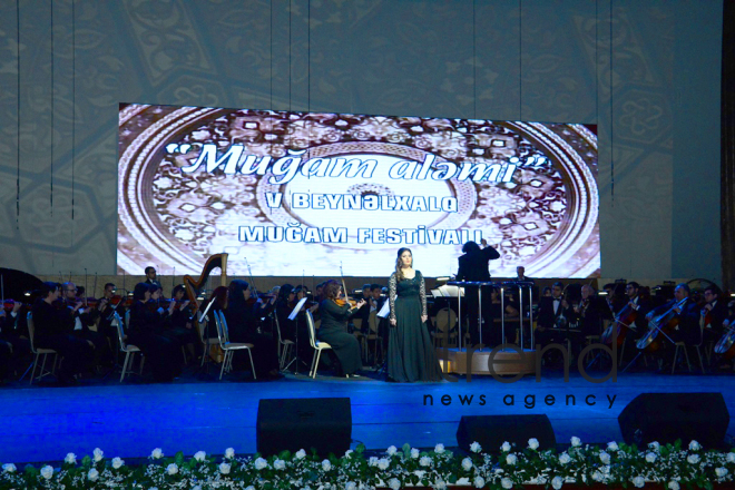 "Fifth International Festival "" World of Mugham"" opened at Heydar Aliyev Palace. Azerbaijan, Baku, march 9, 2018"
