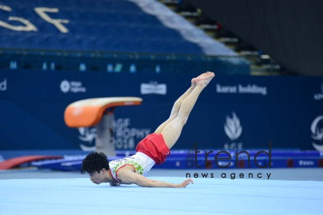 Best moments of FIG Artistic Gymnastics World Cup in photos. Azerbaijan, Baku, march 19, 2018