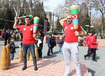 Baku residents, guests celebrating Novruz holiday