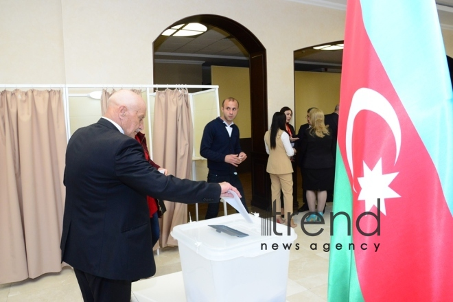 Voting in presidential election starts in Azerbaijan. Azerbaijan, Baku, april 11 , 2018
