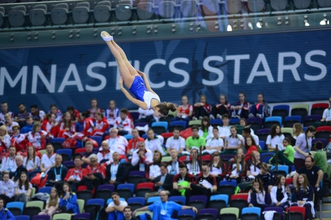 Baku hosts solemn opening ceremony of European Championships in Trampoline, Double Mini-Trampoline and Tumbling.Azerbaijan, Baku, april 12 , 2018