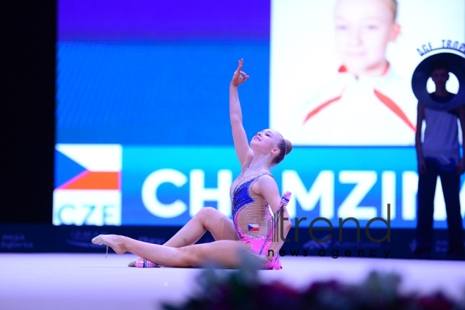 The best moments of Day 2 of Rhythmic Gymnastics World Cup in Baku. Azerbaijan, Baku april 28 2018