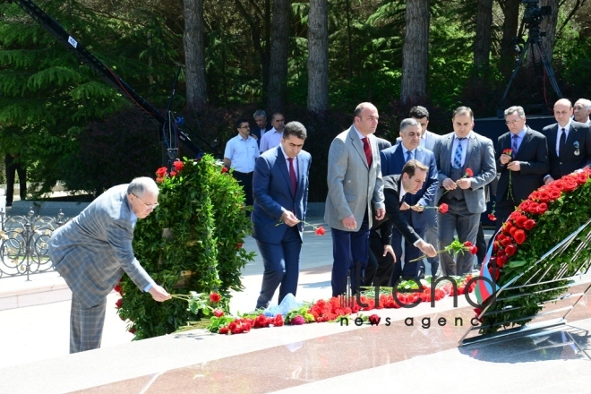 Azerbaijanis mark 95th birthday anniversary of National Leader  Heydar Aliyev . Azerbaijan, Baku, may 10. 2018