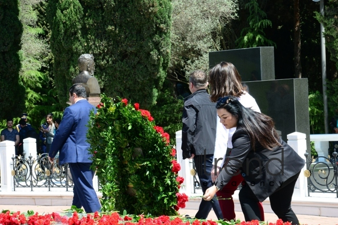 Azerbaijanis mark 95th birthday anniversary of National Leader  Heydar Aliyev . Azerbaijan, Baku, may 9. 2018