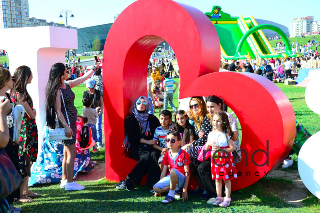 Children Festival in Heydar Aliyev Center park Azerbaijan, Baku, 1 june 2018