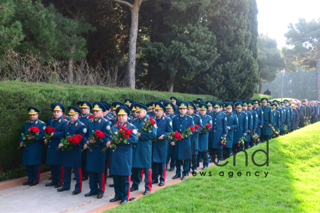 Azerbaijani public reveres memory of great leader Heydar Aliyev. Azerbaijan Baku 12 December 2018